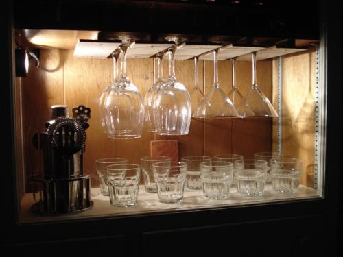 hanging wine glass rack plans